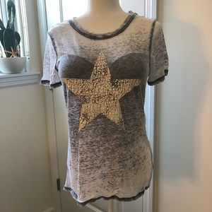 Modern lux sheer Star T-shirt